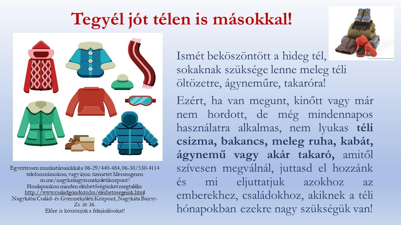 téli adománygyűtő plakát